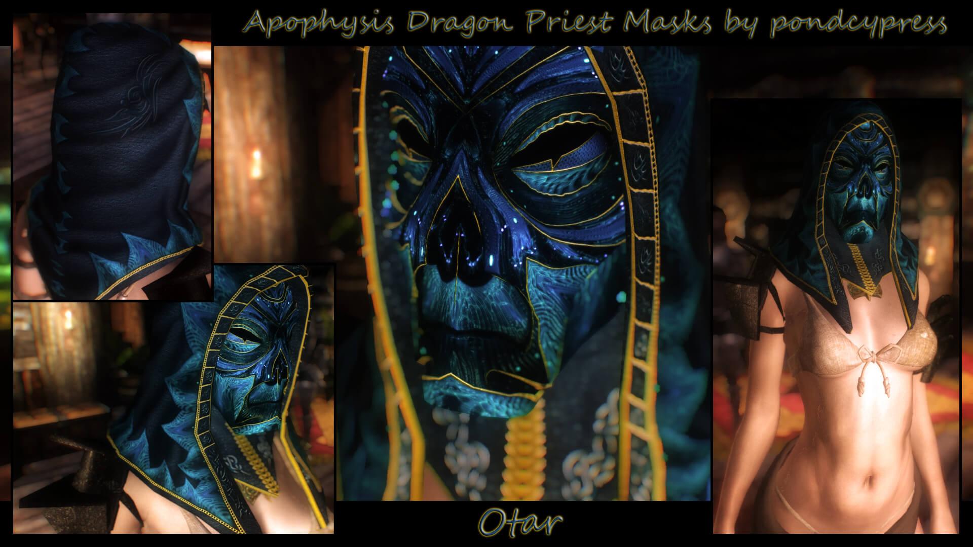 Masques des prêtres-dragons d'Apophysis - La Confrérie des